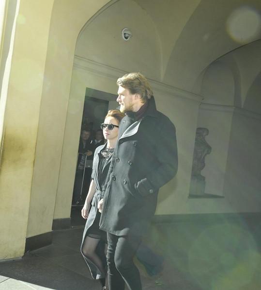 Vojta Dyk s manželkou Tatianou Dykovou