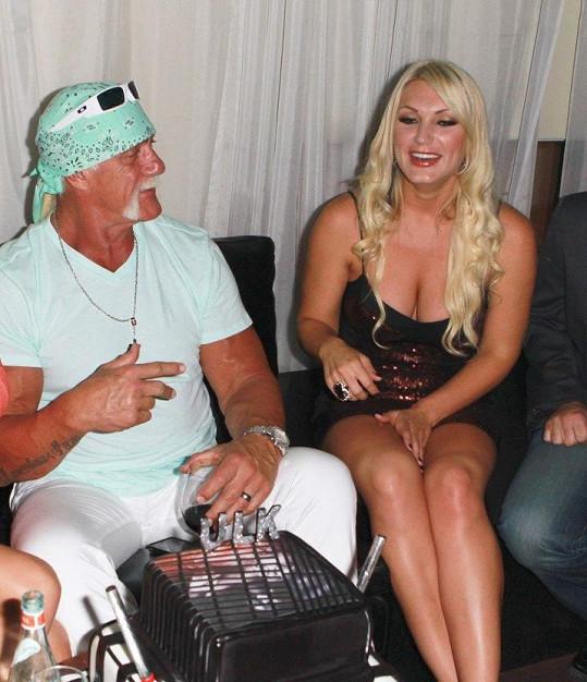 Hulk Hogan s dcerou Brooke na archivní fotce