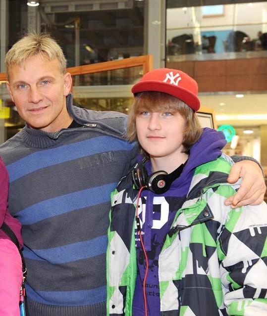 Martin Maxa s třináctiletým synem Ivanem.
