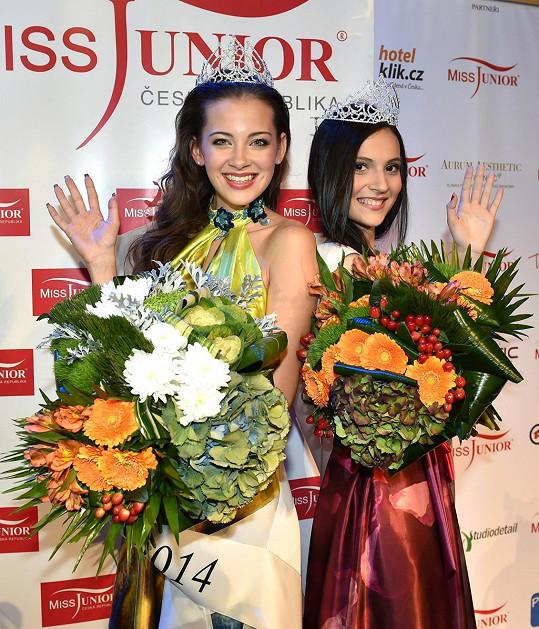 Andrea se slovenskou vítězkou Miss Junior Dominikou Krčekovou