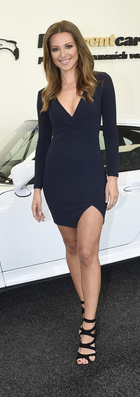 Inna moderovala akci s luxusními vozidly.