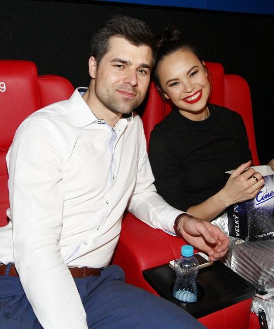Se snoubencem Martinem Košínem