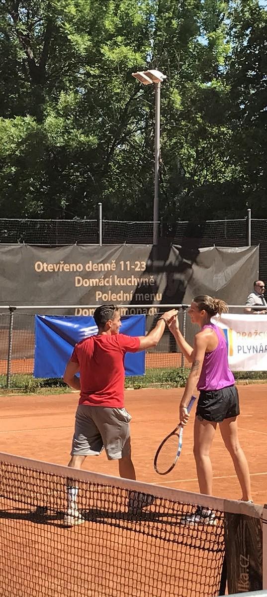 Plíšková si s přítelem Michalem Hrdličkou společně zahráli.