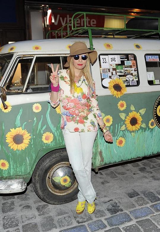Kateřina Kristelová si s hippie stylem také potykala.