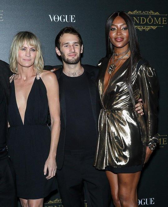 Společně se vyfotili s modelkou Naomi Campbell.