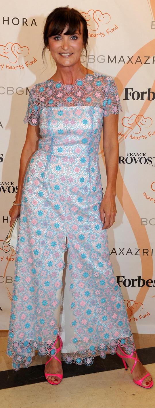 Nikoho nepřekvapí, že návrhářka Beata Rajská vyrazila na Žofín v šatech z vlastní tvorby.