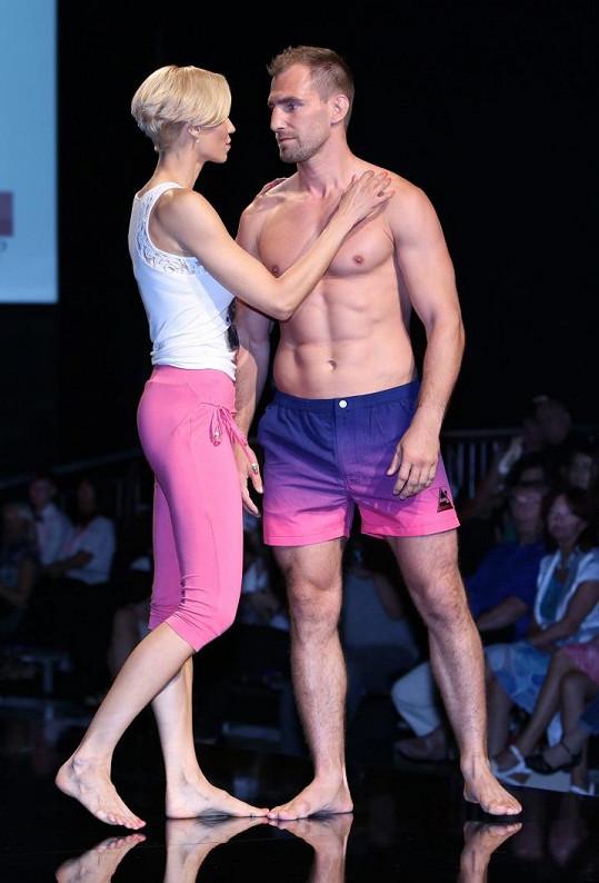 Hana se svým přítelem Andrém v roli modelů.