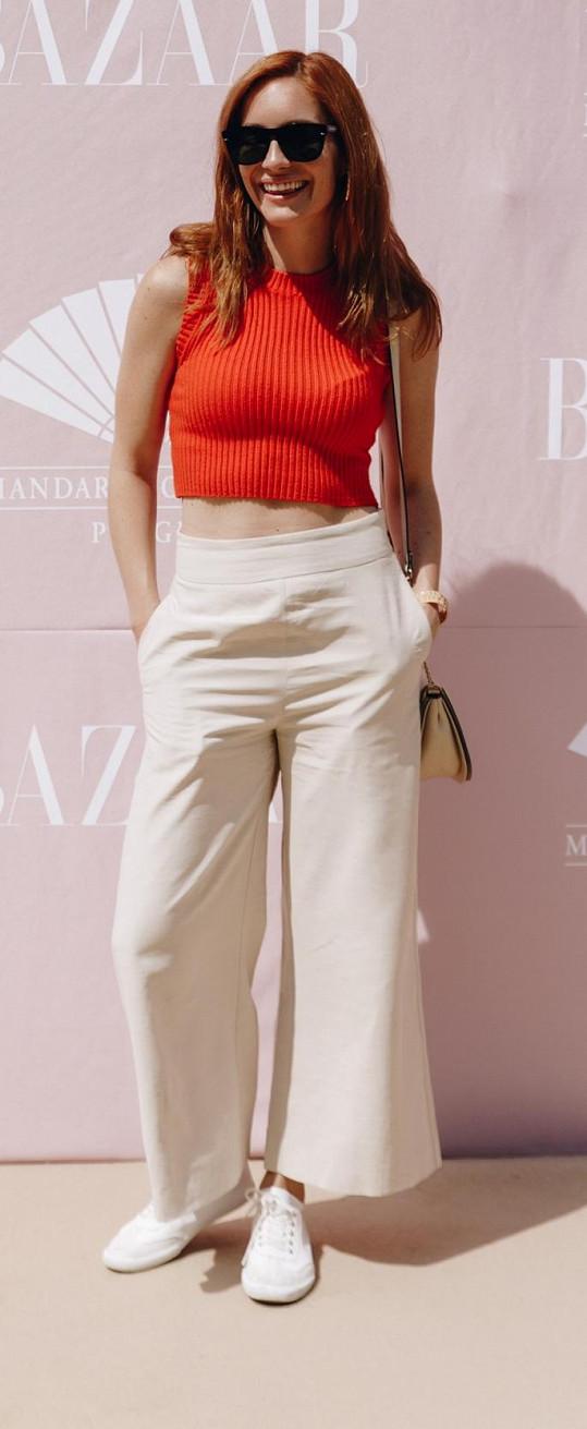 Herečka si užívala krásného letního dne v hotelu Mandarin Oriental.