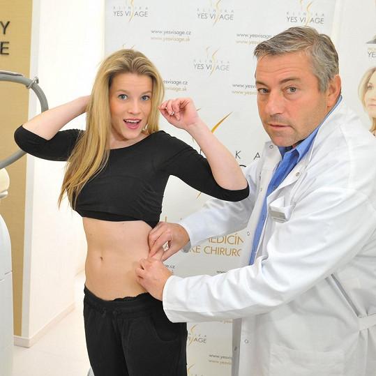 Míša s doktorem, který definoval oblast, na níž se mělo pracovat.