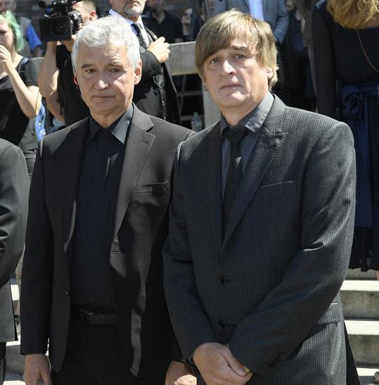 Synové Miloše Nesvadby Michal (vlevo) a Martin