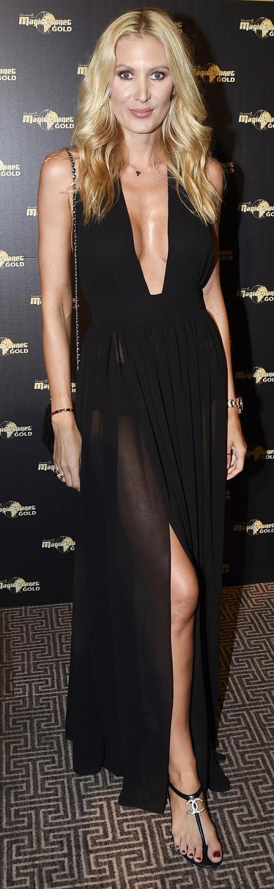 Kateřina Průšová dorazila na párty v sexy šatech.