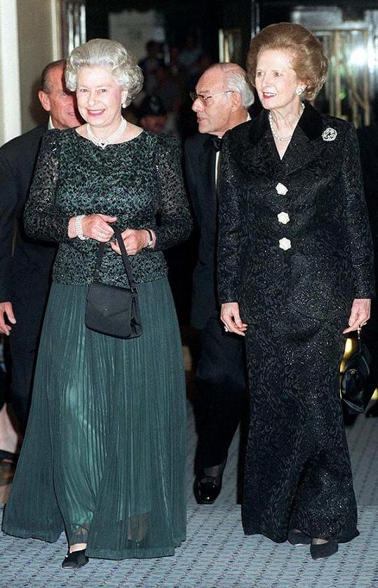 Královna vynesla náhrdelník například na oslavu 70. narozenin Margaret Thatcher.