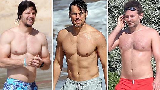 Hollywoodští herci se ukázali v plavkách.