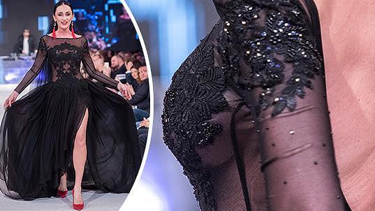 Sisa Sklovska zářila na módní show.