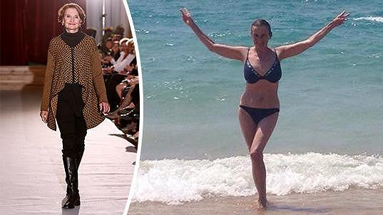 Eva Holubová si vyzkoušela roli modelky.
