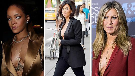 Tyhle slavné dámy nemají rády podprsenky.