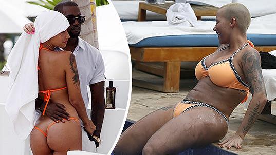 Amber Rose před osmi lety s Kanyem Westem a dnes...