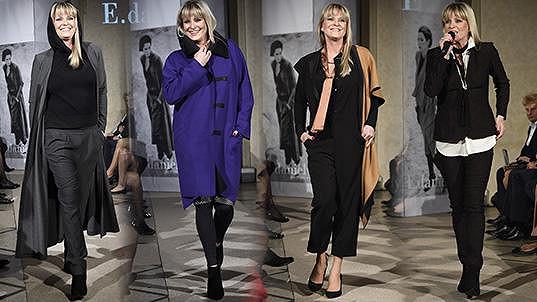 Chantal Poullain jako modelka pro E.daniely