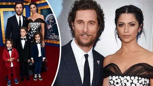Matthew McConaughey se pochlubil celou rodinkou.