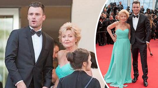 Mareš se svou maminkou v Cannes