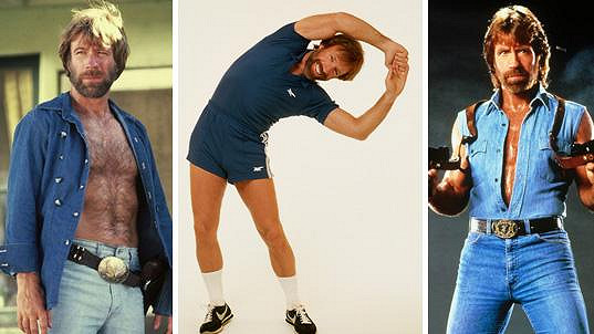 Chuck Norris byl velký drsňák, ale tyto outfity mu moc neprospěly.