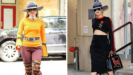 V neděli jste Lady Gaga mohli zahlédnout hned ve dvou výrazných modelech.