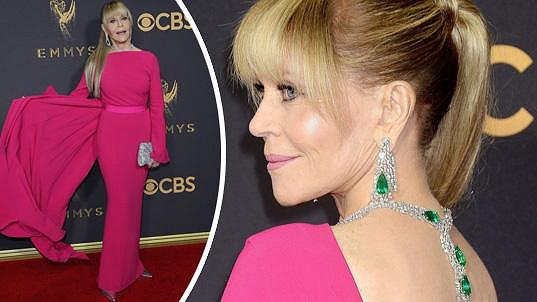 Jane Fonda na letošním udělování Emmy Awards v Los Angeles
