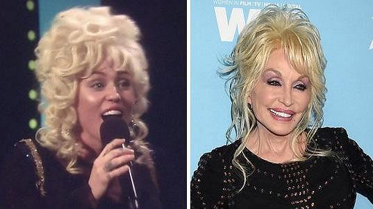 Miley si zahrála na svou kmotru Dolly.