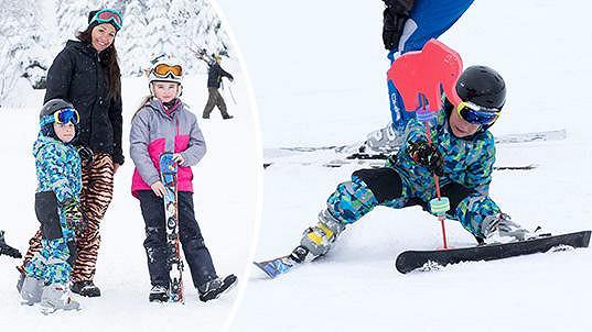 Agáta Prachařová vyrazila s dětmi na hory.