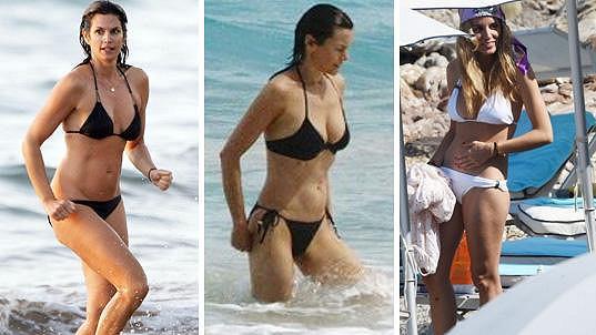 Richard Gere má slabost pro krásné ženy a ony pro něj. Zleva Cindy Crawford, Carey Lowell a Alejandra Silva