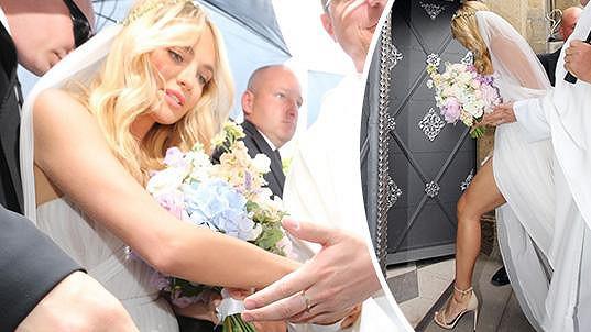 Taťána Kuchařová ve svatebních šatech