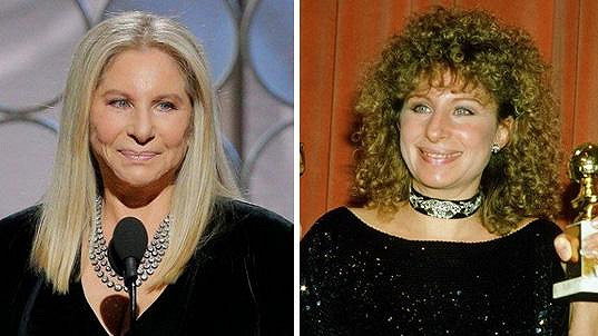 Barbra Streisand na Zlatých glóbech letos a v roce 1984