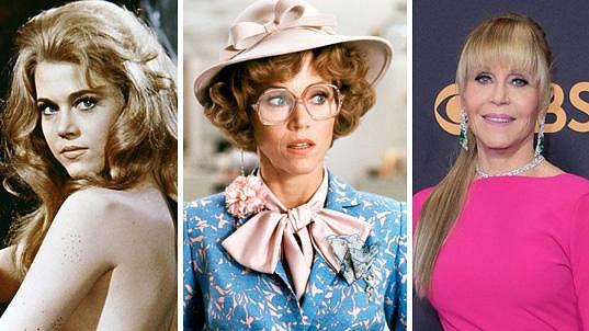 Jane Fonda v průběhu téměř 60 let