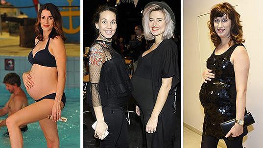 Tyhle známé dámy brzy porodí...
