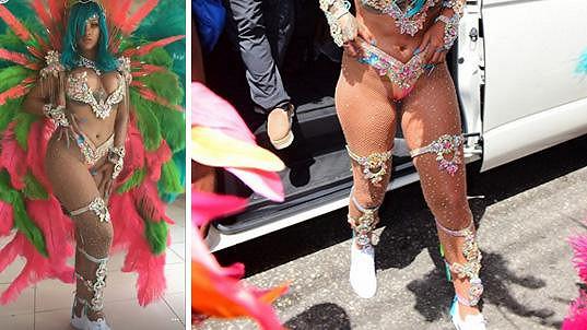 Rihanna je každoroční hlavní hvězdou barbadoského karnevalu.