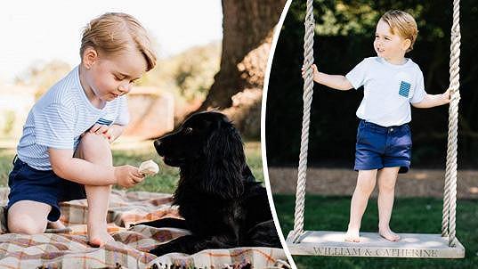 Princ George oslavil třetí narozeniny, královská rodina při té příležitosti zveřejnila tyto roztomilé fotky.