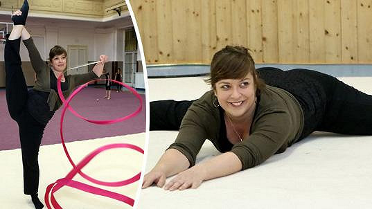 Anežka Rusevová zvládá gymnastiku na jedničku.