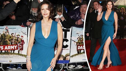 Catherine Zeta-Jones byla ozdobou červeného koberce.