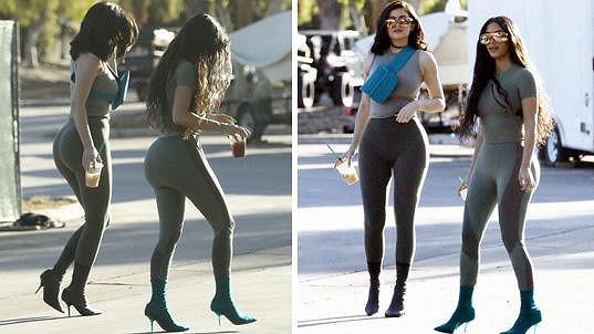 Kim a Kylie vypadají zezadu jako dvojčata.