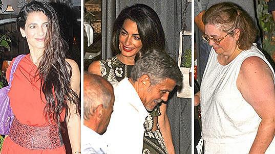 Sestry George a Amal Clooney nemohly na rodinné sešlosti chybět.