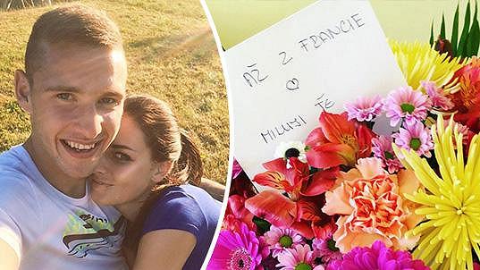 Tereza Chlebovská dostala kytici od přítele Pavla, který je na fotbalovém Euru.