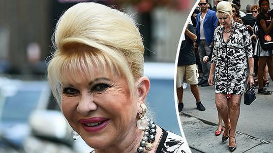 Ivana Trump na týdnu módy v New Yorku