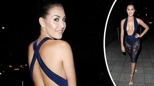 Modelka Chloe Goodman zářila na londýnské párty v odvážném modelu.