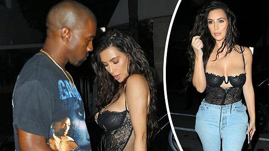 Kim Kardashian se s oblékáním nezdržovala.