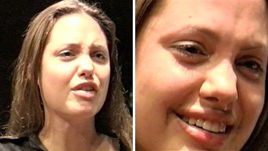 Angelina Jolie ve svých začátcích na hodině herectví...