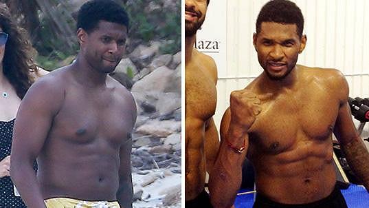 Usher nebyl dlouho ve fitku.