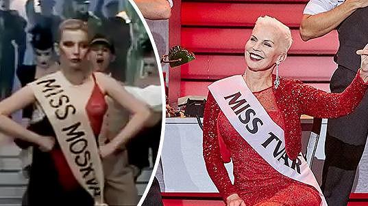 Kateřina Kornová v roce 1989 a dnes