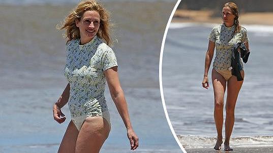 Julia Roberts na dovolené na Havaji