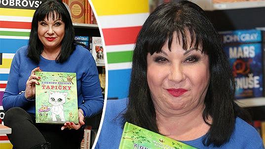 Dáda Patrasová křtila knížku pro děti.