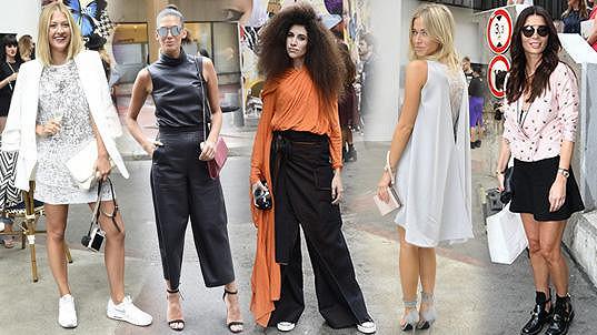 Na týdnu módy byly nejdůležitějšími doplňky nápad a odvaha.